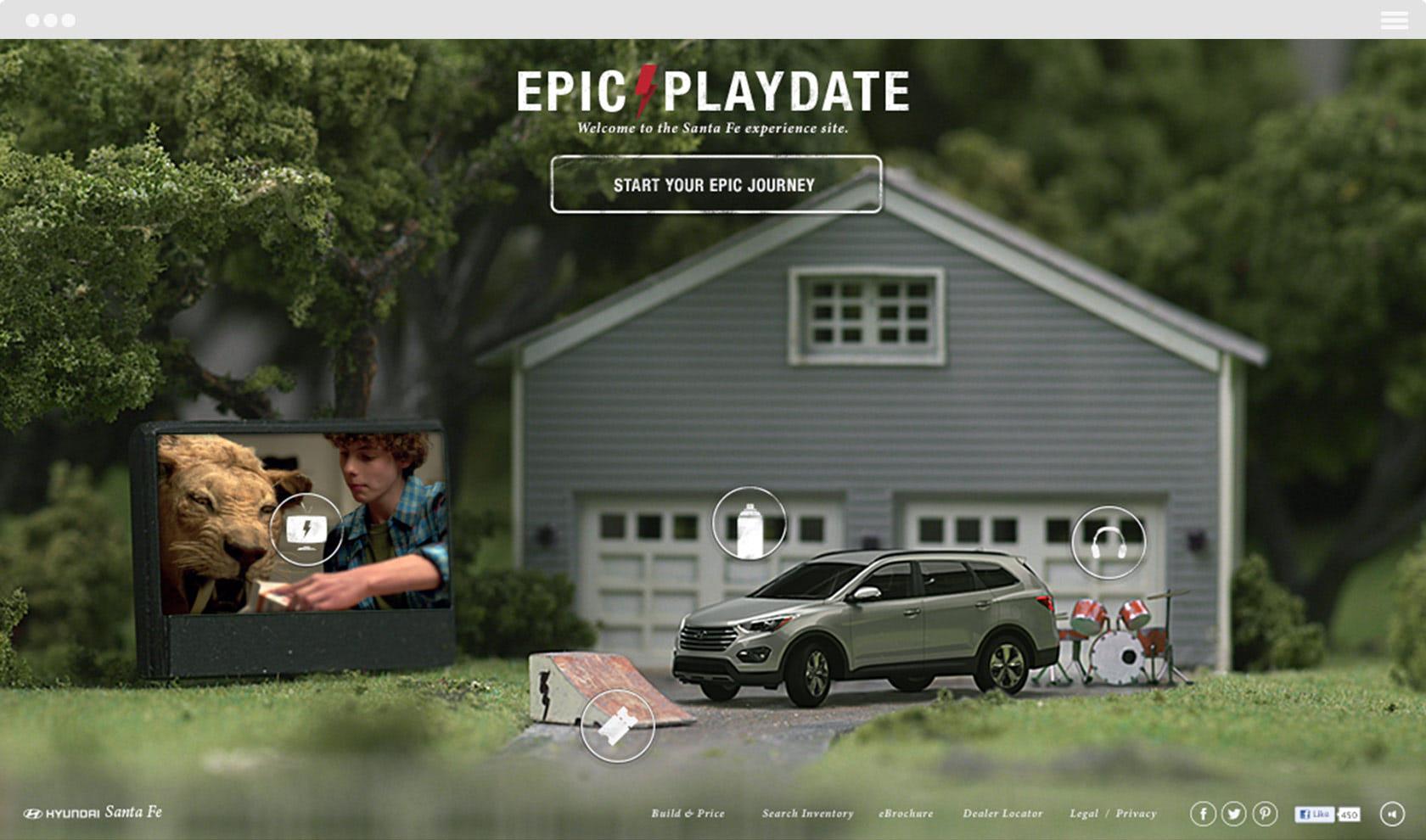 Hyundai Santa Fe — Epic Playdate Frontpage